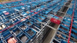 Flux de marchandises dans un entrepôt de Fenwick-Linde