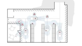 Un graphique indique les zones d'utilisation du Fenwick SafetyGuard.