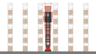 Image du chariot pour allées étroites K Fenwick avec Active Stability Control