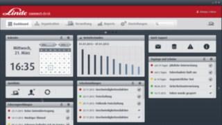 Tableau de bord du logiciel de gestion de flotte connect:desk.