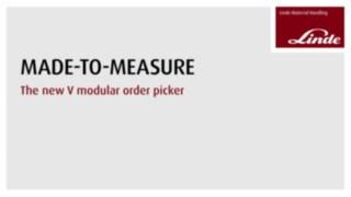 Vidéo sur les avantages et les fonctionnalités du préparateur de commandes grande hauteur V-Modular Fenwick.