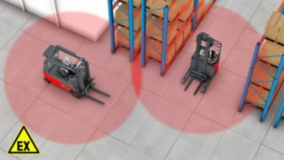 Le signalement des zones ATEX contribue à éviter les collisions dans cette zone