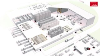 Représentation des processus dans un entrepôt schématique