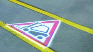 Le signal TruckSpot sur le sol