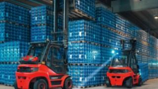 BlueSpot™ Fenwick utilisé chez un fournisseur de boissons